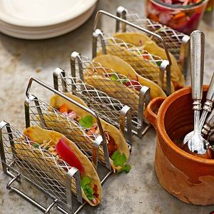Williams Sonoma ✰ Stainless Interlock Taco Racks